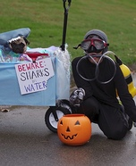 Scuba Diver and the Hammerhead Pug Homemade Costume