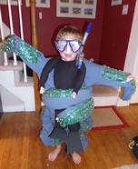Scuba diver caught by Octopus Homemade Costume