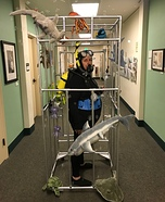 Scuba Diver in a Shark Cage Homemade Costume