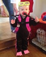 Scuba Girl Baby Homemade Costume