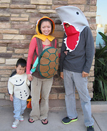 Sea Life Family Homemade Costume