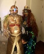 Sea Monster Couple Homemade Costume
