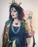 Sea Sorceress Homemade Costume