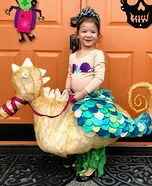 Seahorse-riding Mermaid Homemade Costume