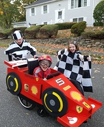Sebastian Vettel in his Ferrari F1 Car Homemade Costume
