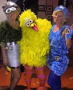 Sesame Street Homemade Costume