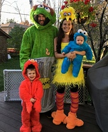 Sesame Street Family Homemade Costume