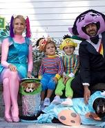 Sesame Street Family Homemade Costume