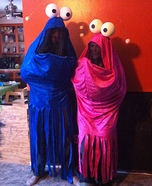 Couples Halloween costume idea: Sesame Street Martians Costume