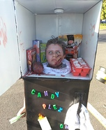 Severed Head in a Freezer Homemade Costume