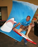 Illusion costume ideas - Shark Attack