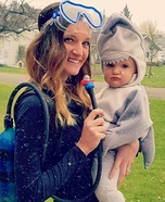 Shark Bait Homemade Costume