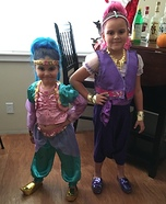Shimmer and Shine Homemade Costume