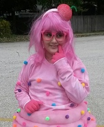 Shopkin Pink Cupcake Homemade Costume