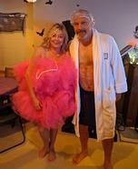 Shower Scrubbie and Man needing a Shower Homemade Costume