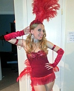 Vegas Showgirl Homemade Costume