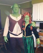 Shrek & Fiona Homemade Couple Costume