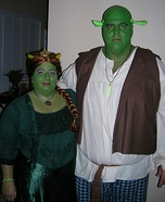 Homemade Shrek and Fiona Costume for Couples
