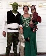 Shrek, Fiona, Donkey and Dronkey Costumes