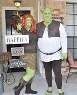 Shrek and Fiona Couple Costume