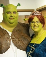 Shrek and Fiona Homemade Costume