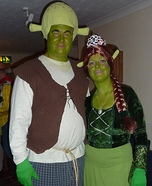 DIY Shrek and Princess Fiona Costumes