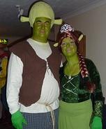 DIY Shrek and Princess Fiona Costumes