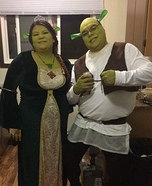 Shrek and Princess Fiona Homemade Costume