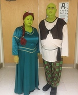 Shrek and Princess Fiona Homemade Costumes