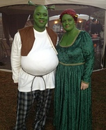 Homemade Shrek & Fiona Costume for Couples