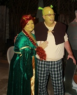 Shrek & Fiona Couple Homemade Costume