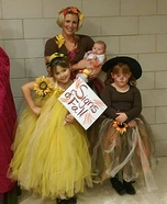 Signs of Fall Family Homemade Costume