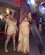 Silent Hill Pyramid Head and Dead Nurse Homemade Costume