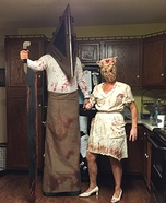 Coolest couples Halloween costumes - Silent Hill Pyramid Head and the Faceless Nurse Costume