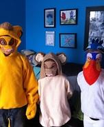 Zazu, Simba, and Nala Homemade Costumes