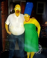 Homer and Marge Simpsons Costume