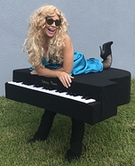 Singer on Piano Homemade Costume
