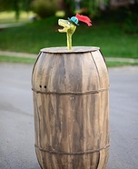 Sir Hiss in Barrel Homemade Costume