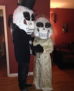 Skeleton Bride and Groom Homemade Costume