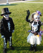 Skeleton Children Homemade Costume