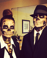Couples Halloween costume idea: Skeleton Couple Costume