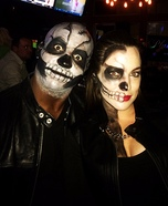 Skeleton Couple Homemade Costume