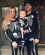 Skeleton Family Homemade Costume