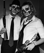 Skeleton Mafia Couple Homemade Costume