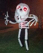Skeleton Man Homemade Costume