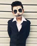Skeleton of Johnny Cash Homemade Costume