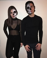 Skeletons Couple Homemade Costume