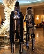 Skeletons Couple Homemade Costume