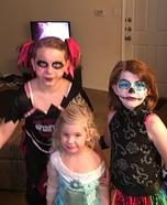 Skelita, Elsa, & Zombie Cheerleader Homemade Costume