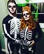 Skelly Family Homemade Costume